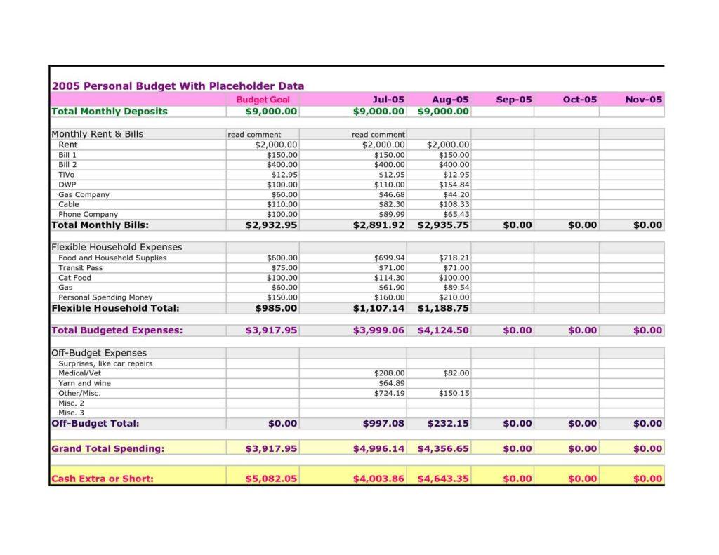 Expense Spreadsheet Template Expense Spreadsheet