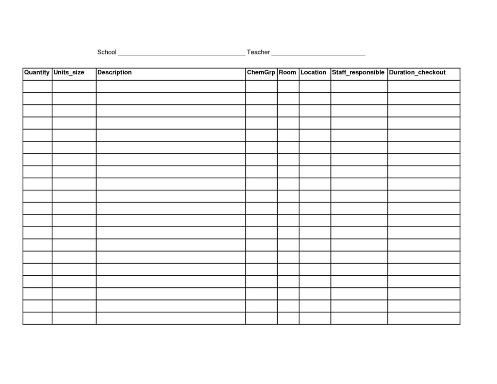 Free Restaurant Inventory Spreadsheet1 Free Inventory