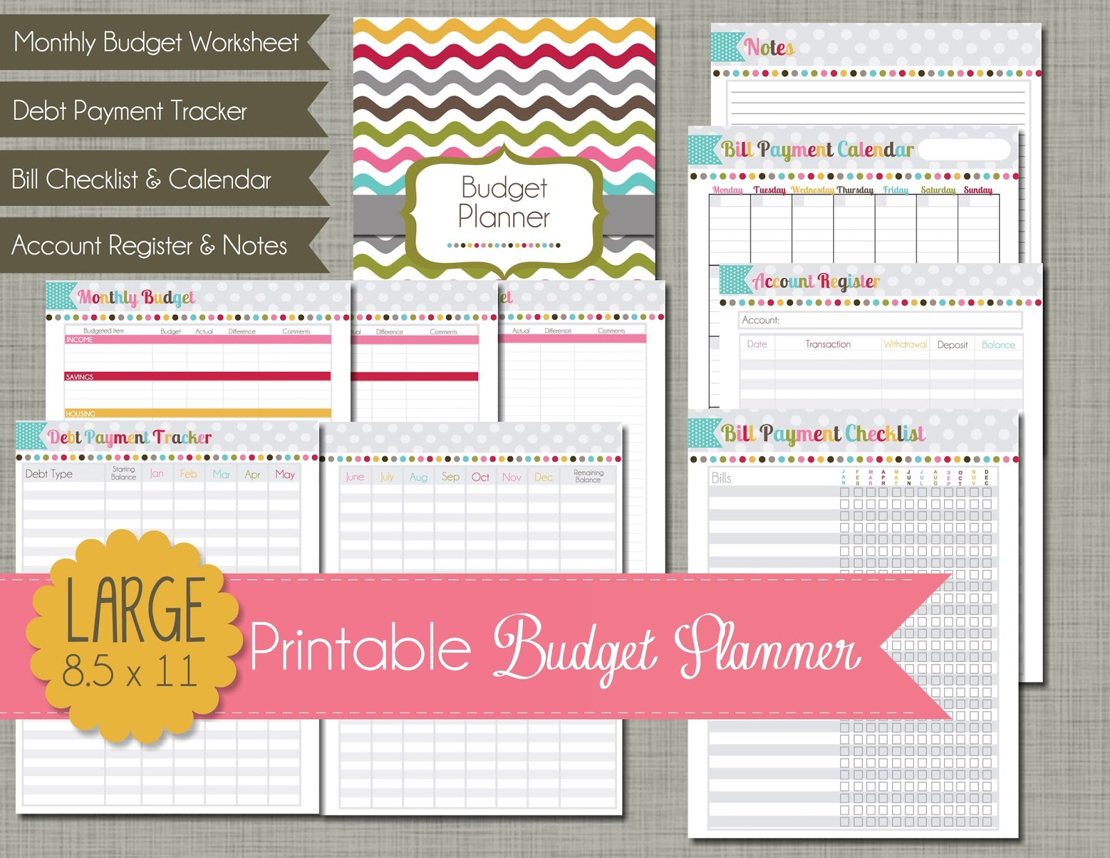 Printable Budget Planner 1 Monthly Financial Planning