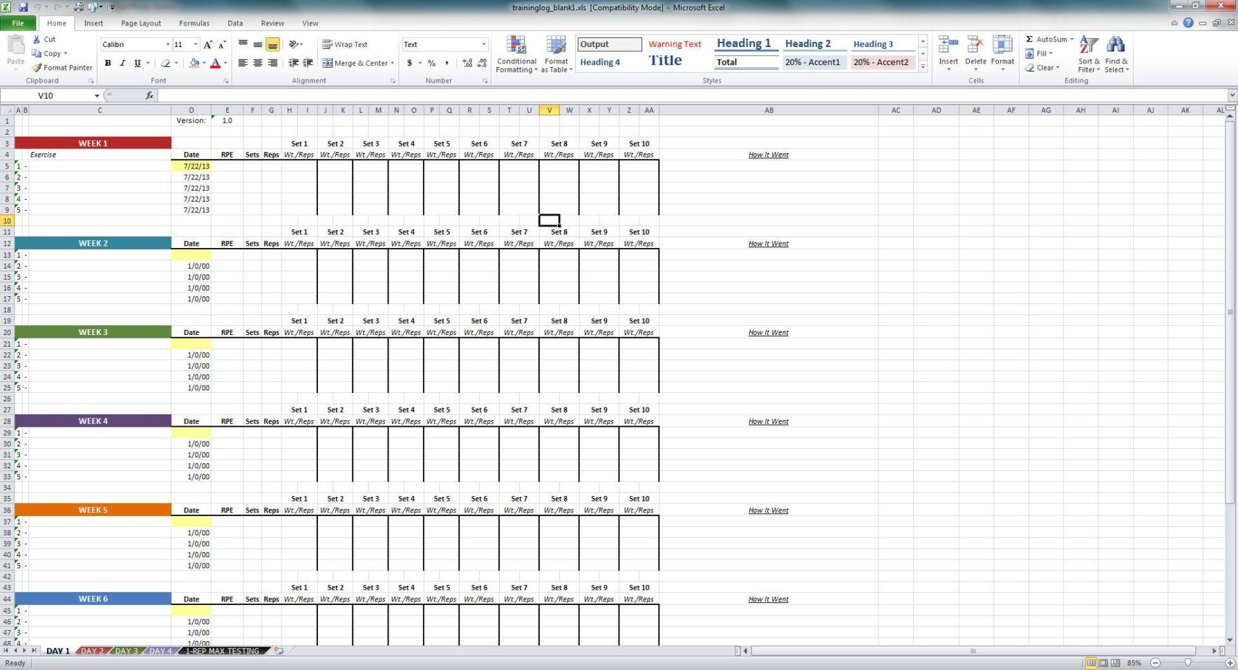 Excel Training Matrix Examples Spreadsheets Training