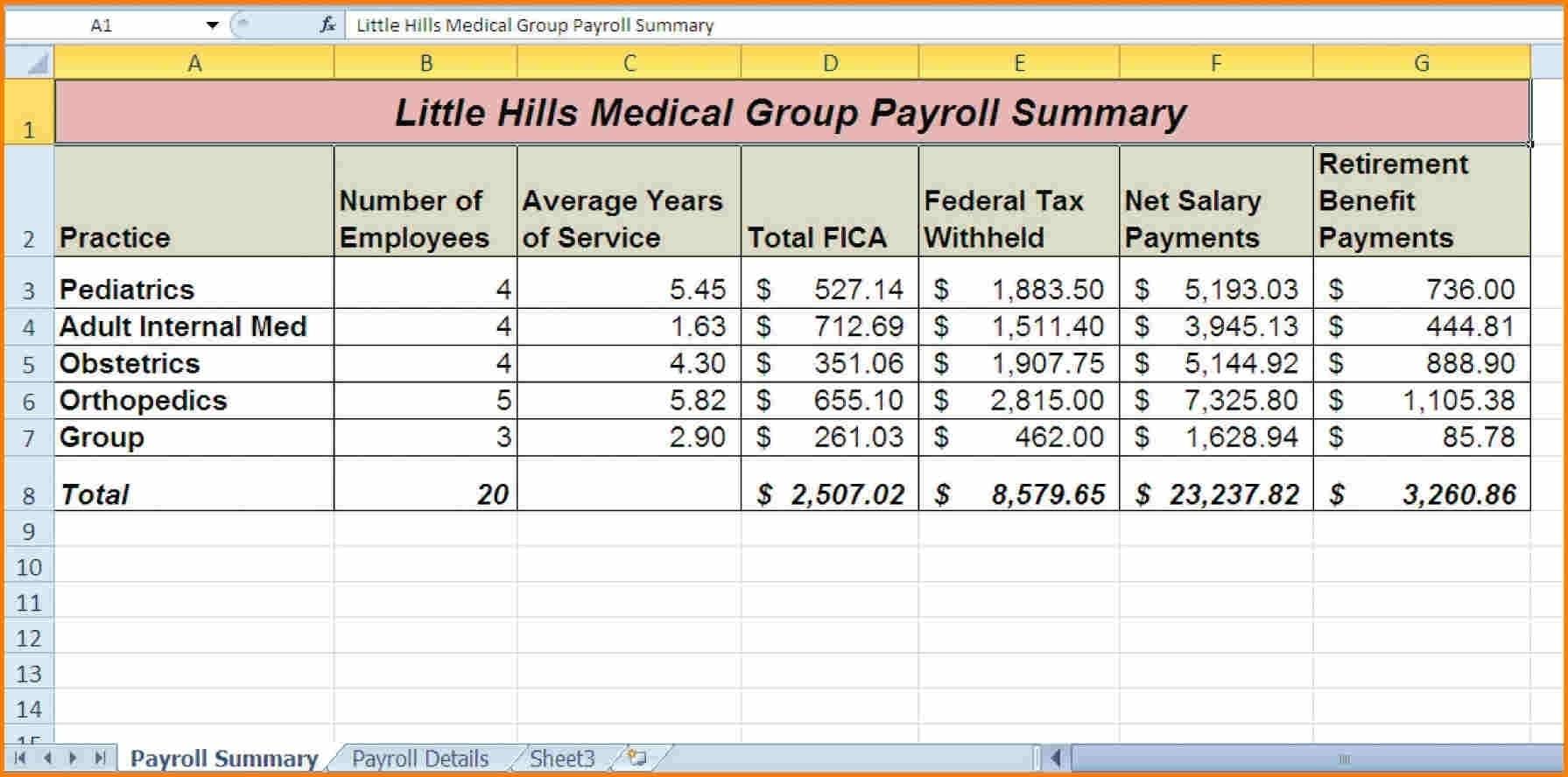 Budget Spreadsheet Page 5 Sample Wedding Budget