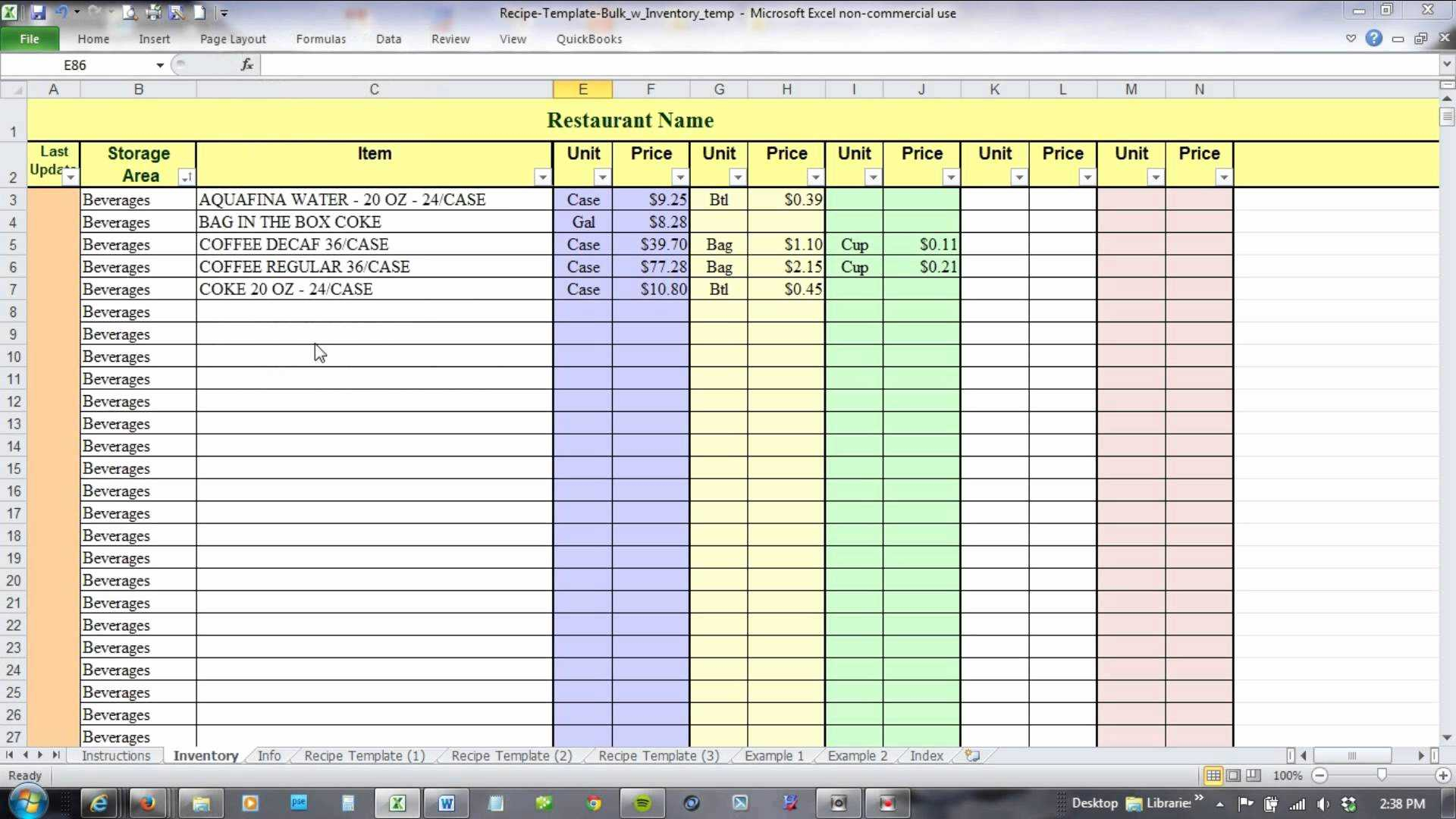 14 Best Of Inventory Tracking Spreadsheet Template