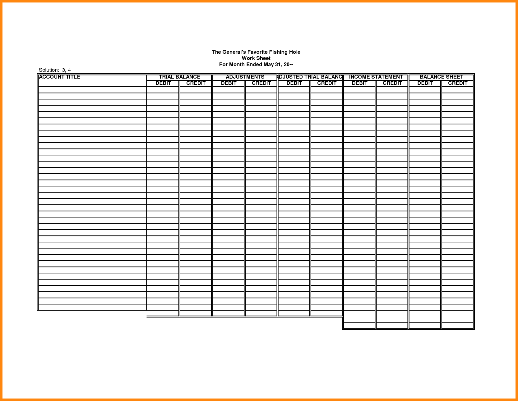 Blank Accounting Spreadsheet Excel Spreadsheet Template