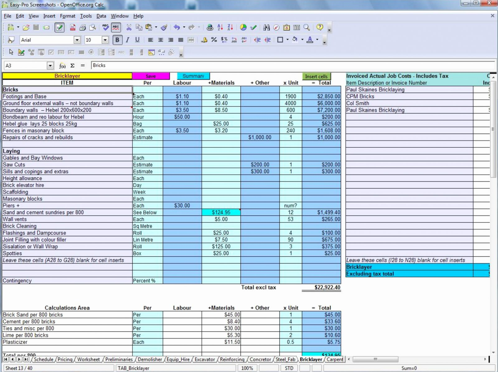 Construction Estimate Template Free Downloadlding