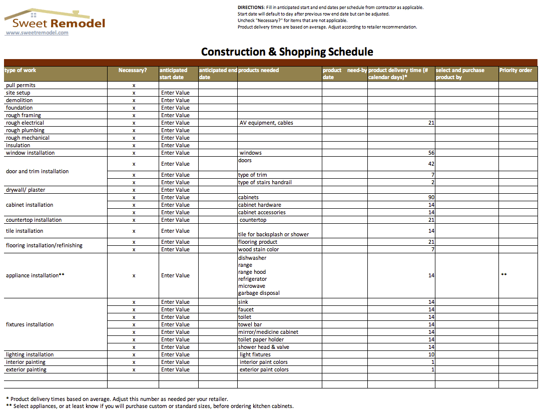 Construction Estimating Spreadsheets Example Of Spreadshee