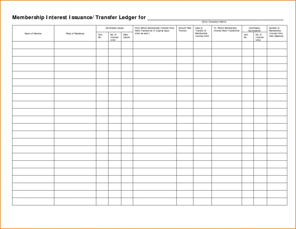 Excel Ledger Template With Debits And Credits Free General