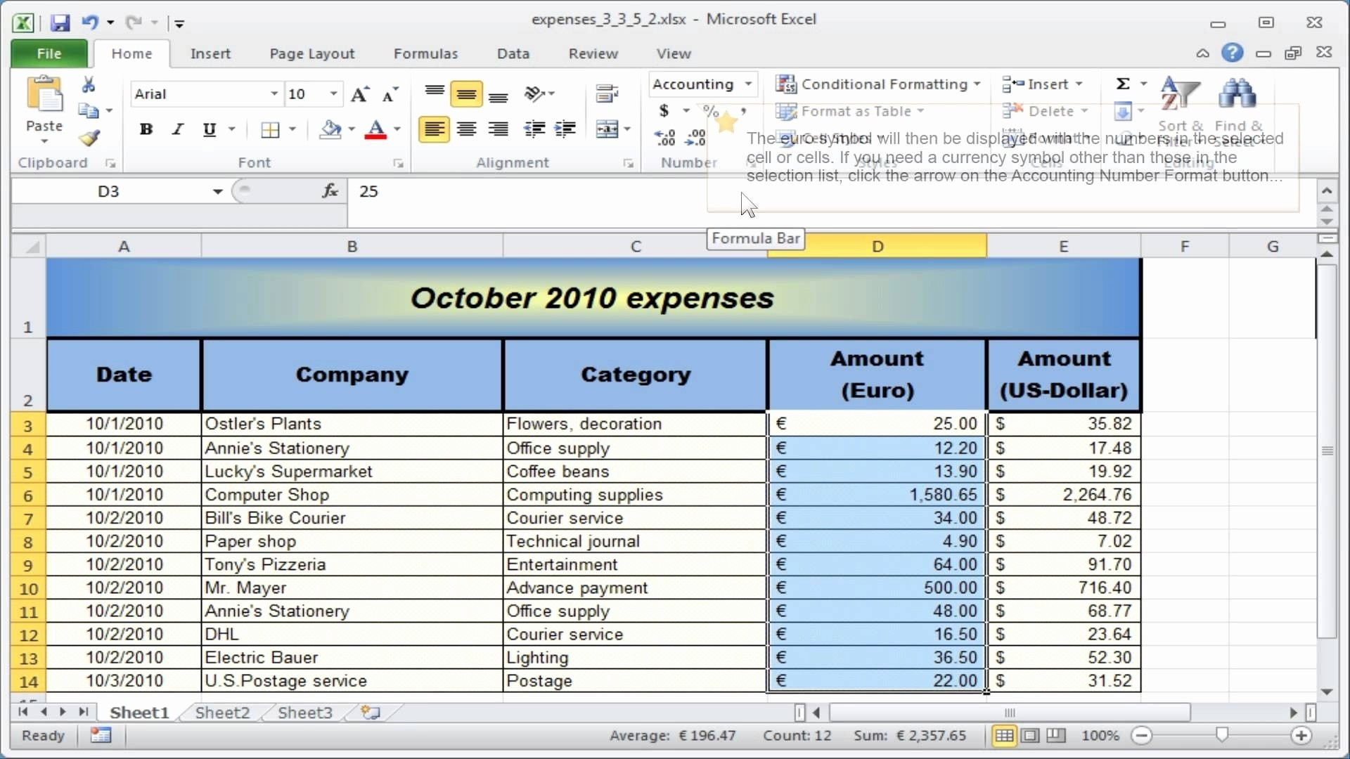 Excel Small Business Accounting Template Perfect