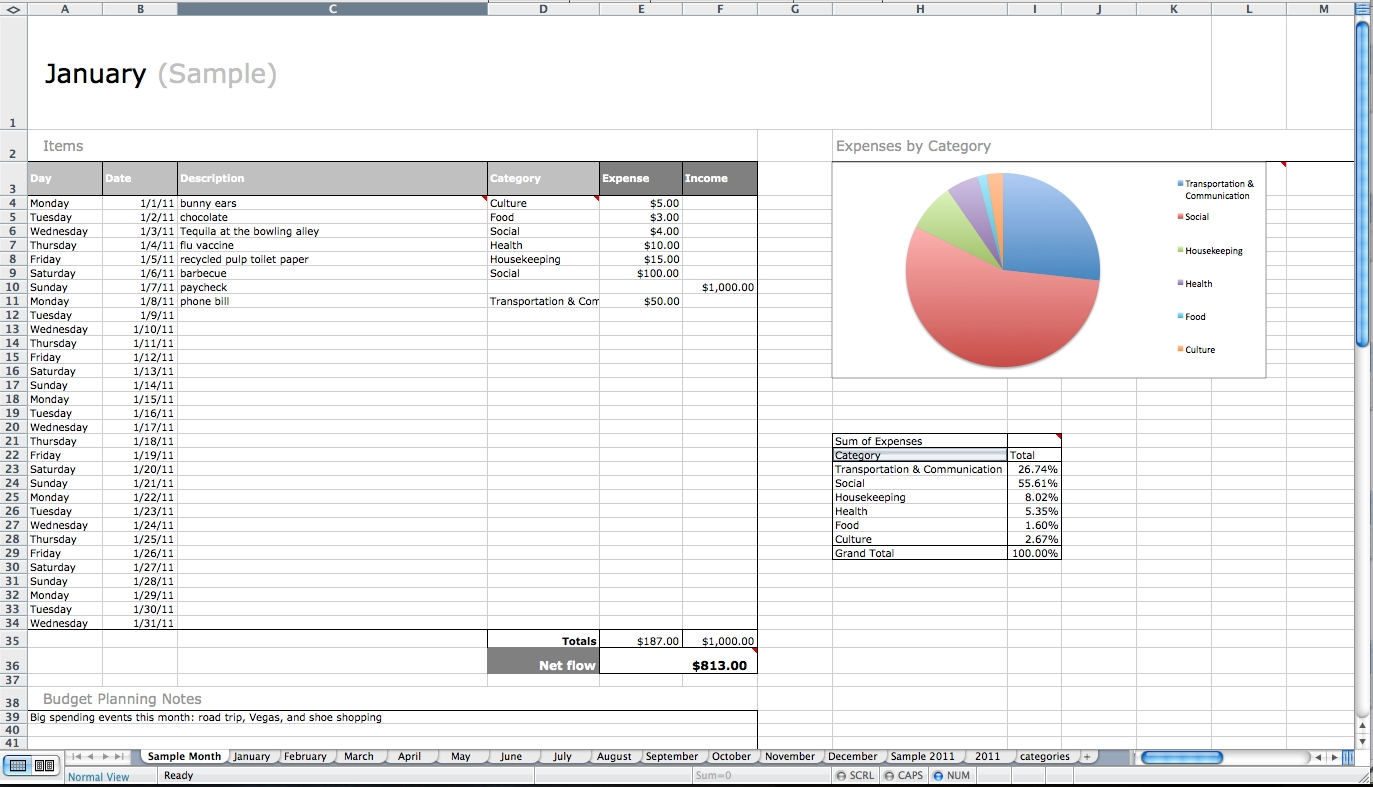 Free Personal Bookkeeping In Excel
