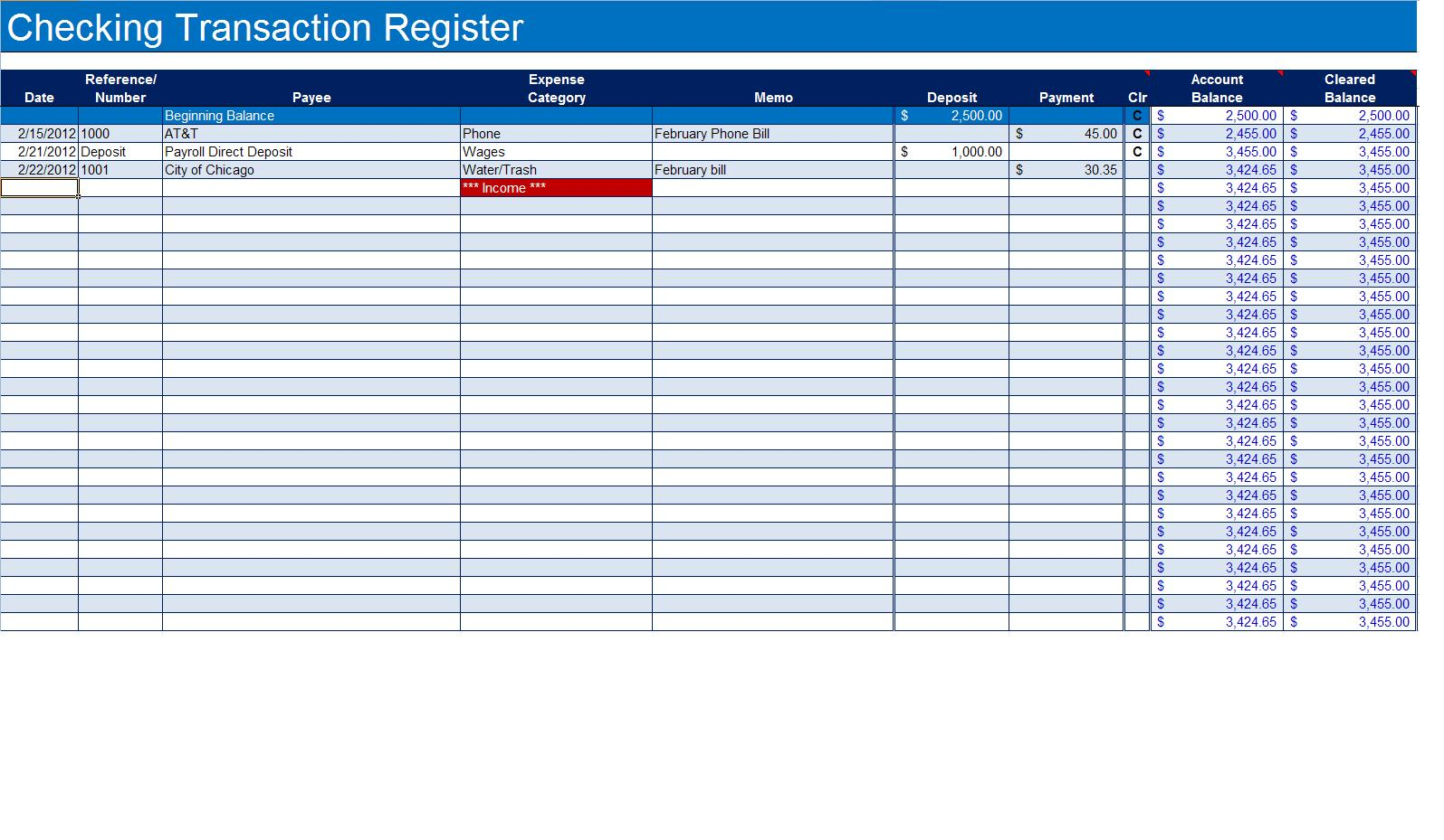 Labeled Accounting Ledger Template Printable Budget Ledger