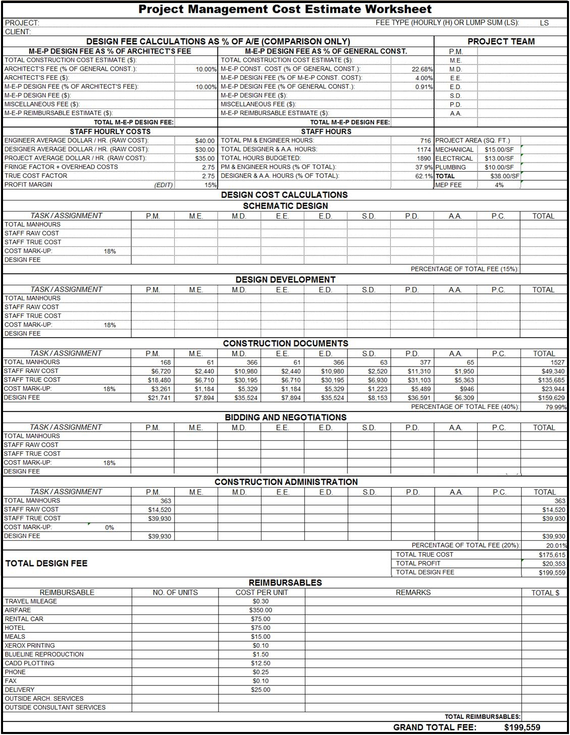 Project Management Worksheet Example Of Spreadshee Project