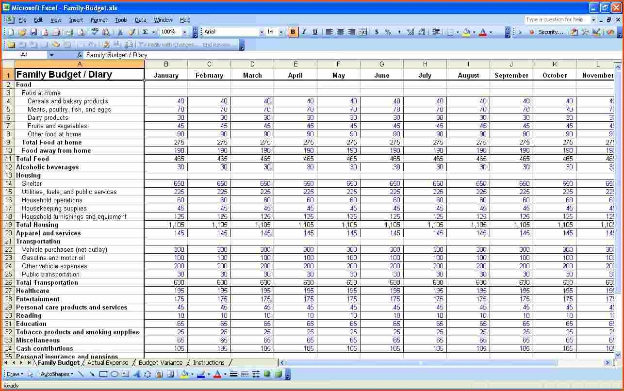Business Profit And Loss Spreadsheet Spreadsheet Softwar