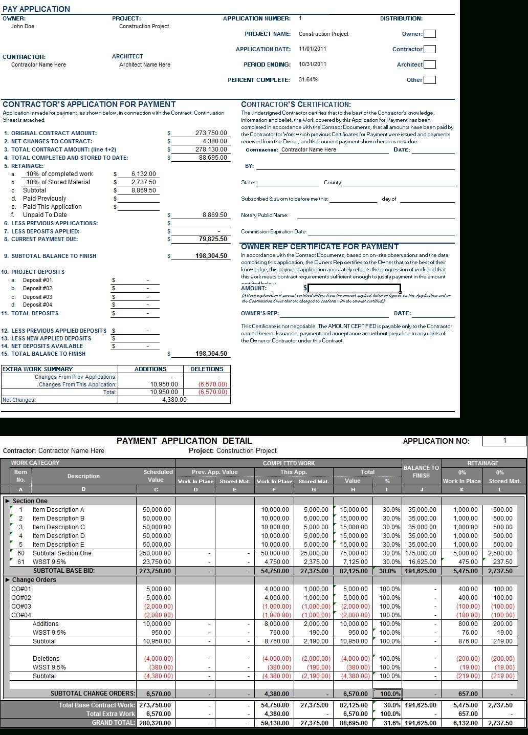 General Labor Invoice Expense Spreadshee General Labor
