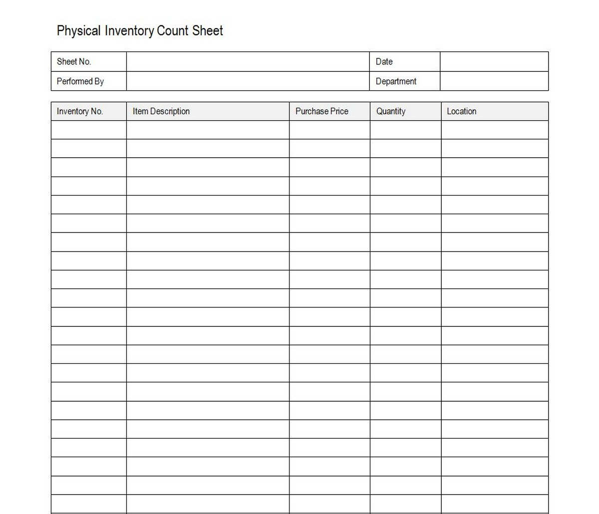 Free Food Inventory Spreadsheet Template On How To Create