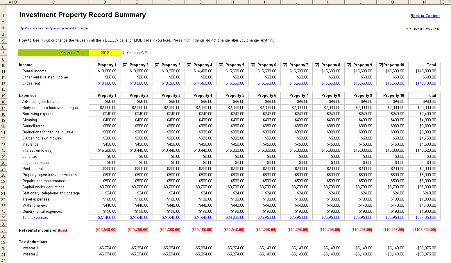 Accounting For Rental Property Spreadsheet Spreadsheet