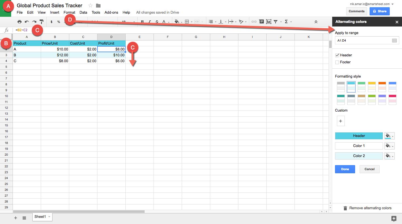 Create A Spreadsheet Spreadsheet Softwar Create A