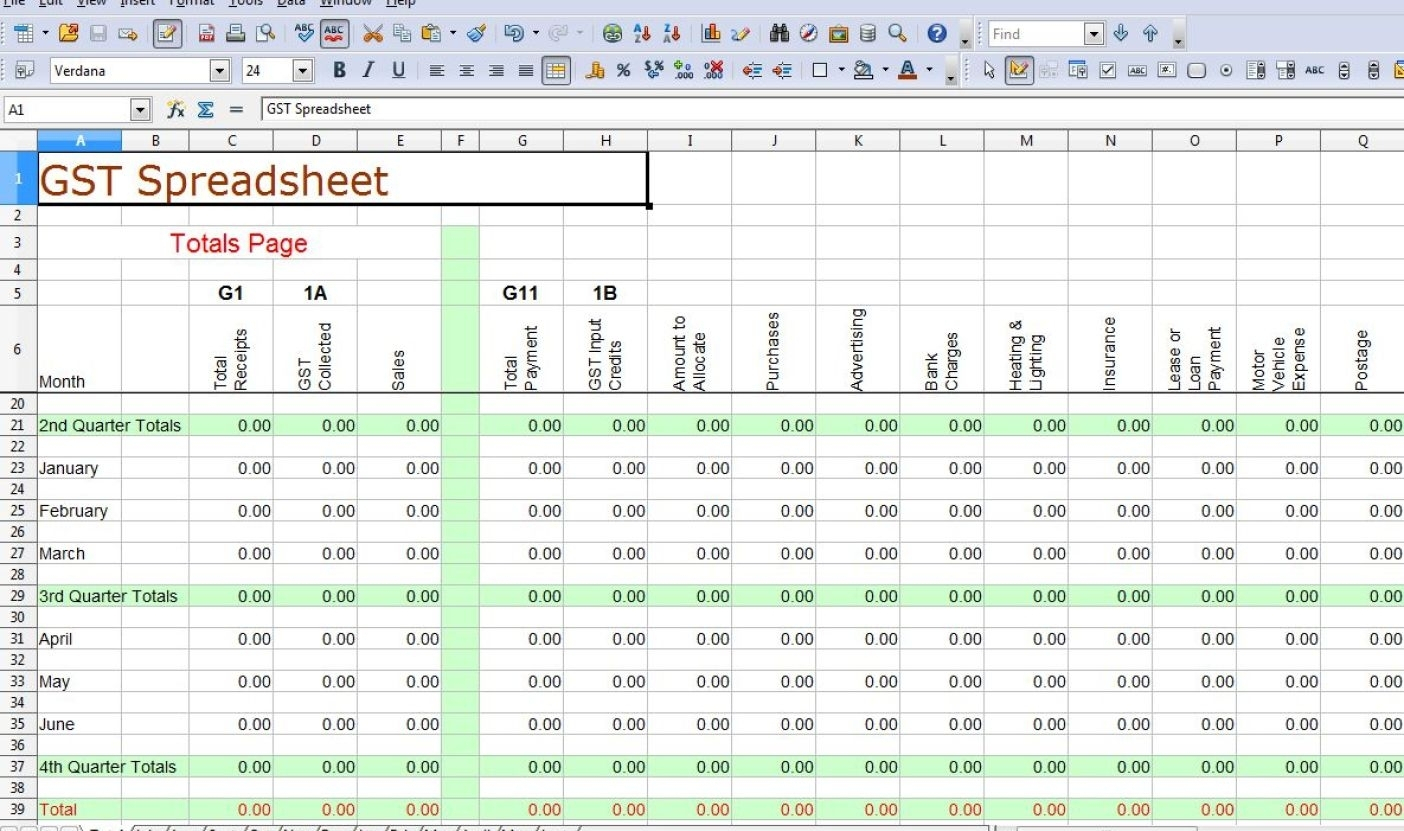 Simple Accounting Template Excel