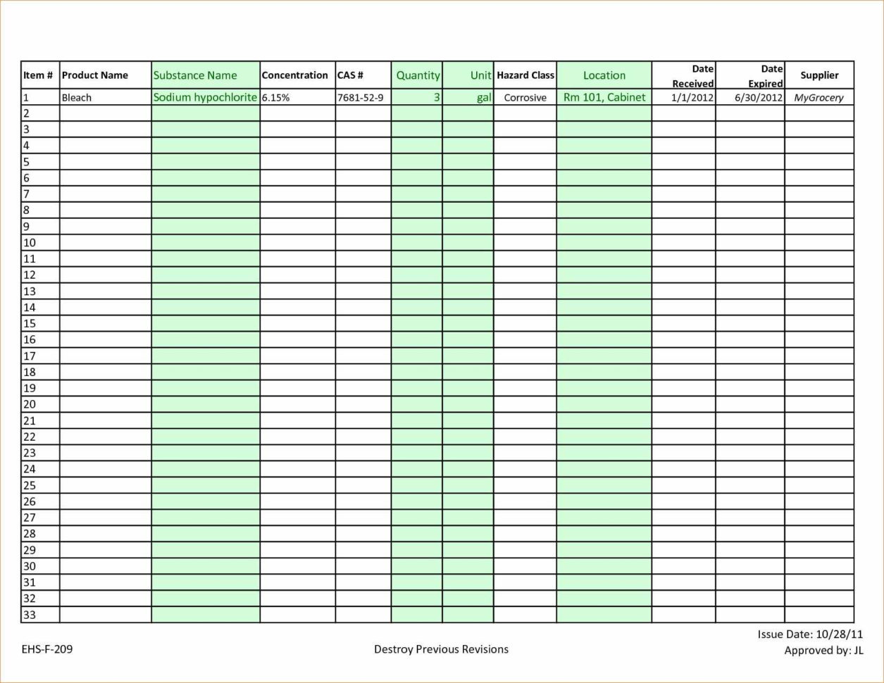 Personal Clothing Inventory Spreadsheet Clothing Inventory