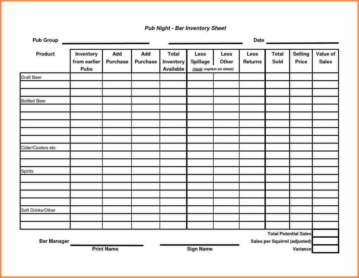 Small Business Inventory Spreadsheet Template With Sales