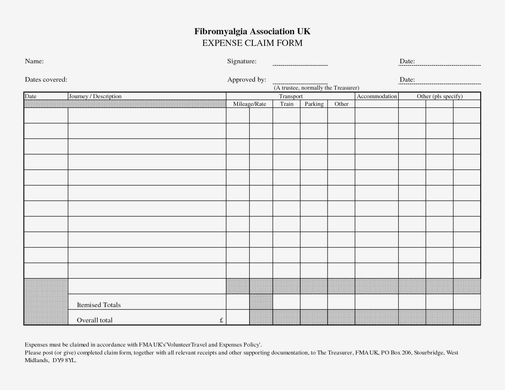 Treasurer Report Form Business Expense Log Template Save