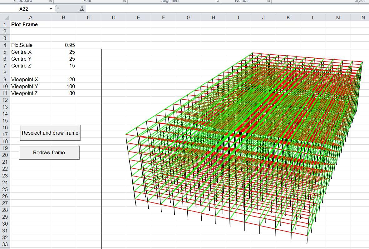 3d Spreadsheet In 3dframe 3d Frameysis For Excel