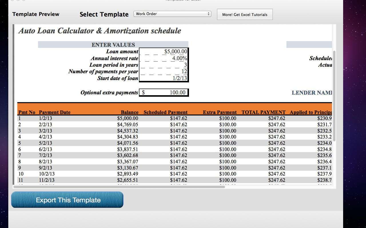 Amortization Schedule Mortgage Spreadsheet Within