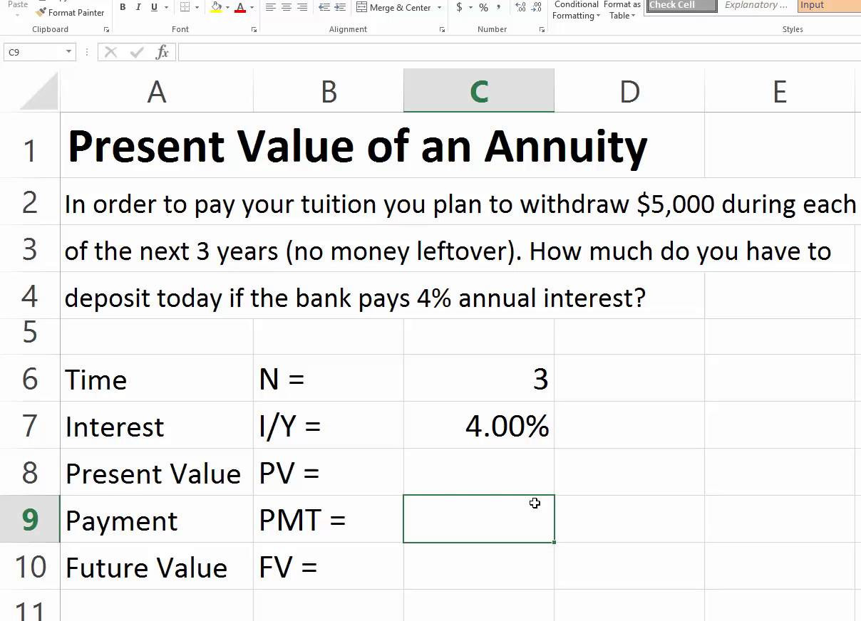 Annuity Spreadsheet With Youtube Spreadsheet Tutorial For