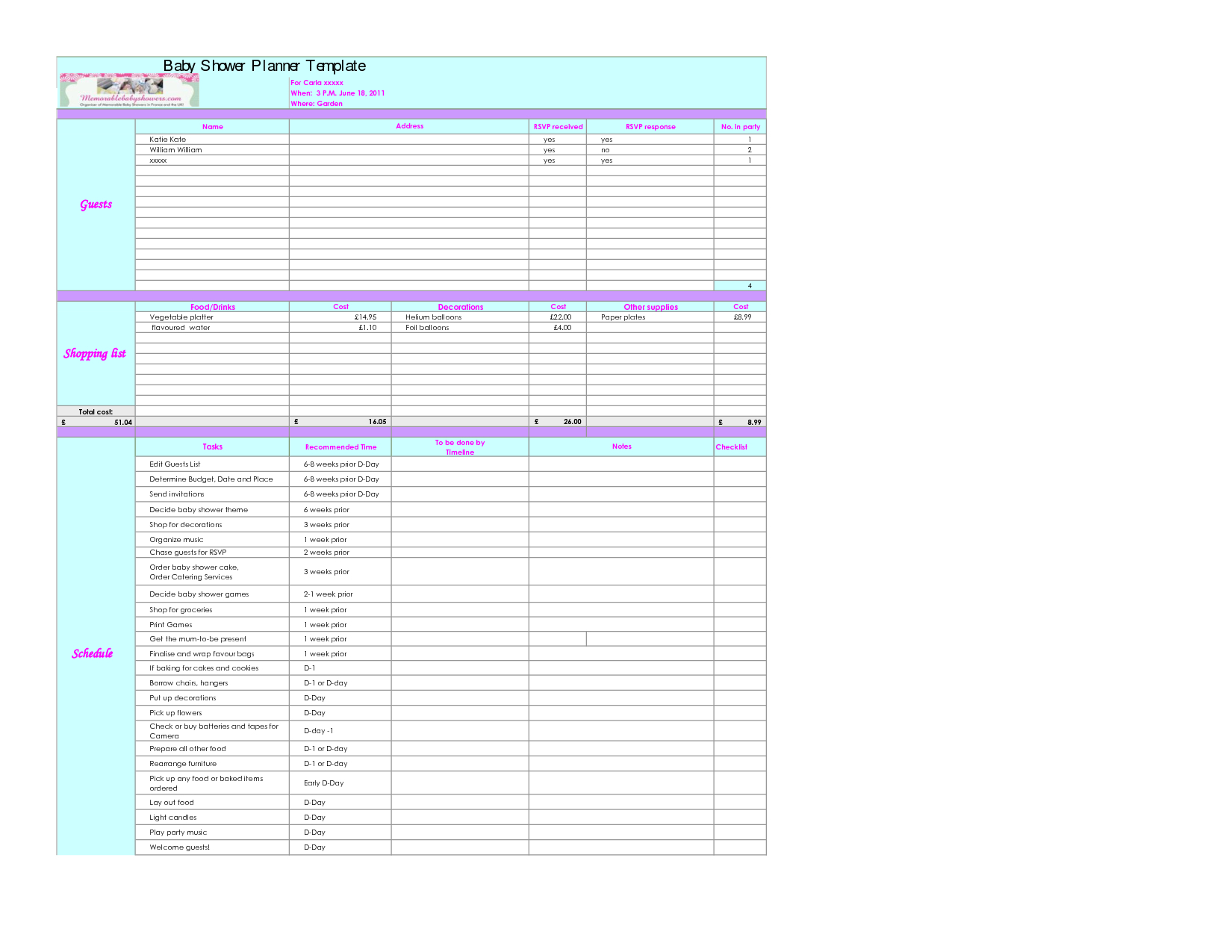 Baby Budget Spreadsheet Excel Spreadsheet Downloa Baby