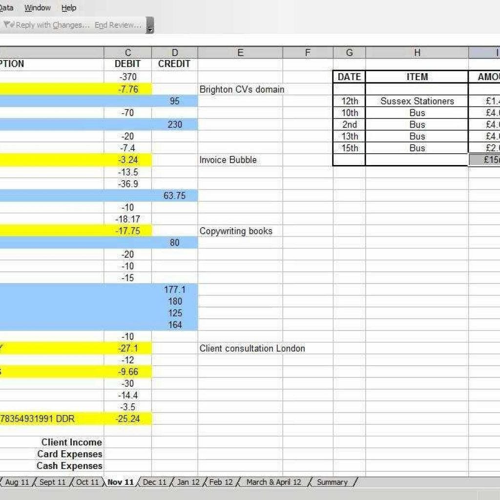 Basic Business Accounting Spreadsheet Within Basic