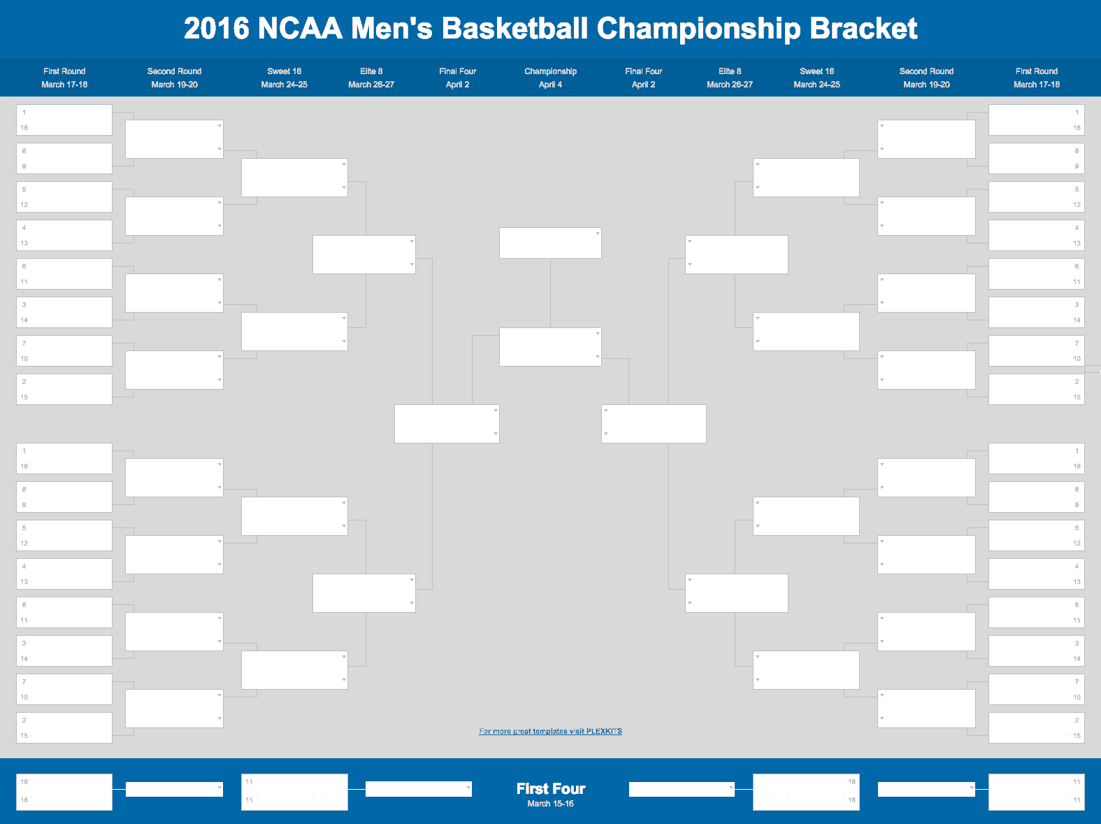 Basketball Spreadsheet For March Madness Bracket