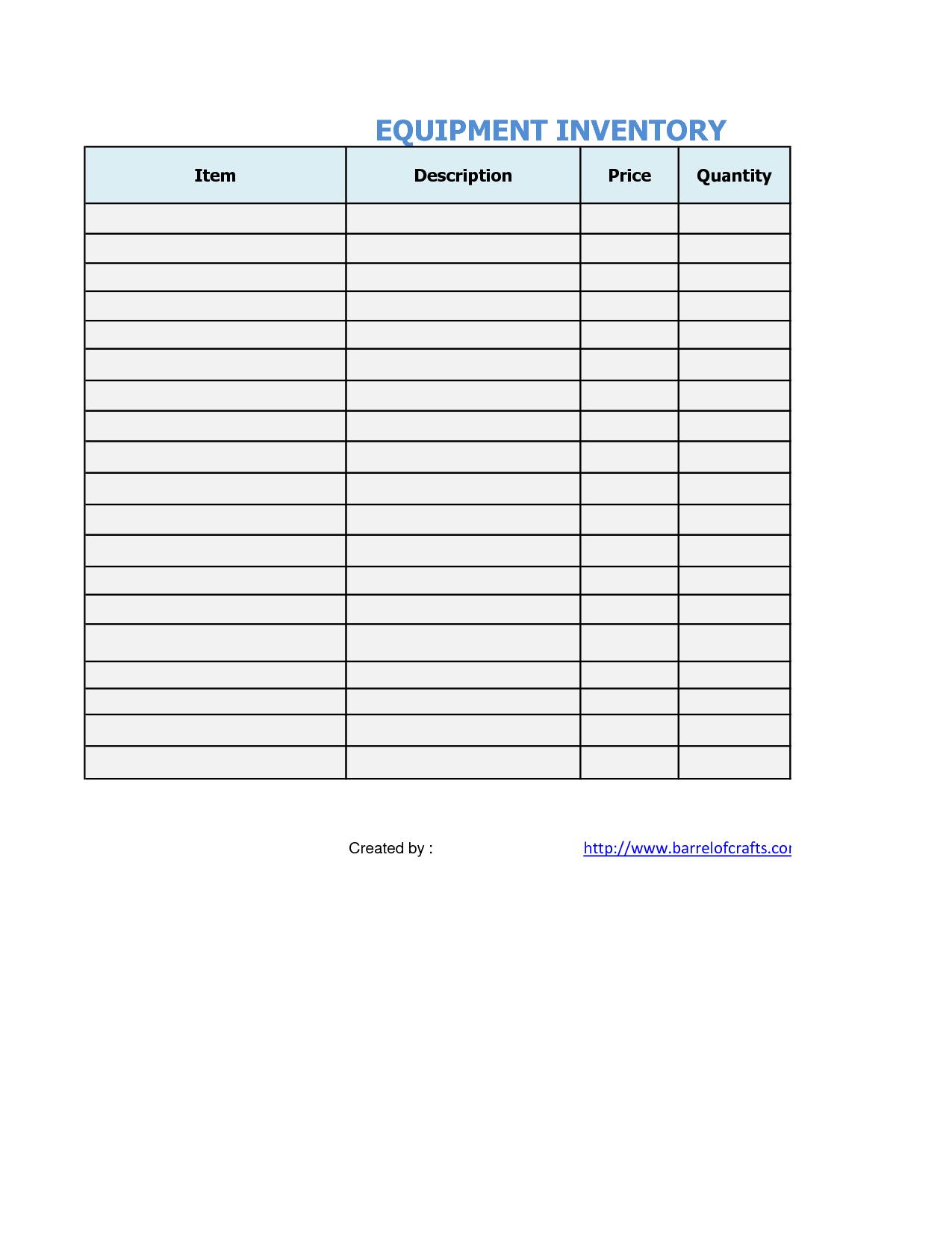 Best Inventory Spreadsheet Throughout Office Supplies