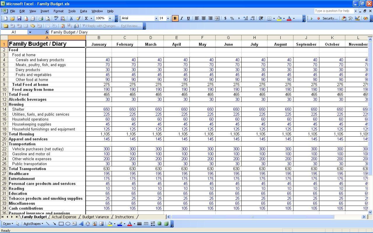 Bill Spreadsheet Template Free Within Bills Spreadsheet