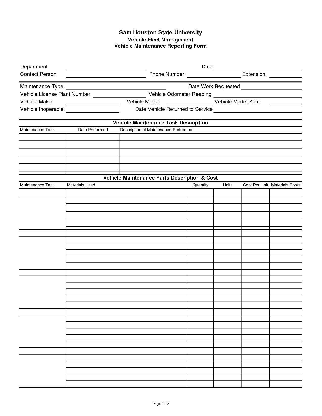 Building Maintenance Costs Spreadsheet Spreadshee