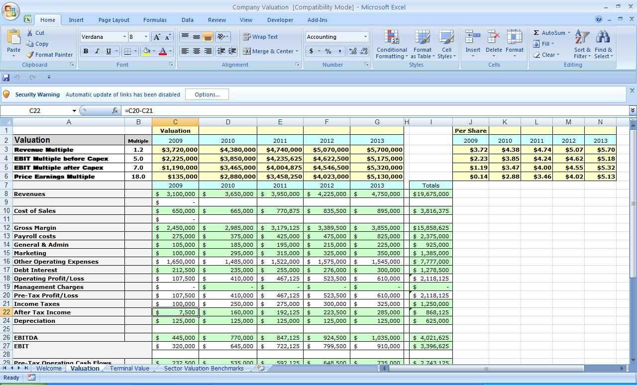 Business Excel Spreadsheet For Business Plan Spreadsheet