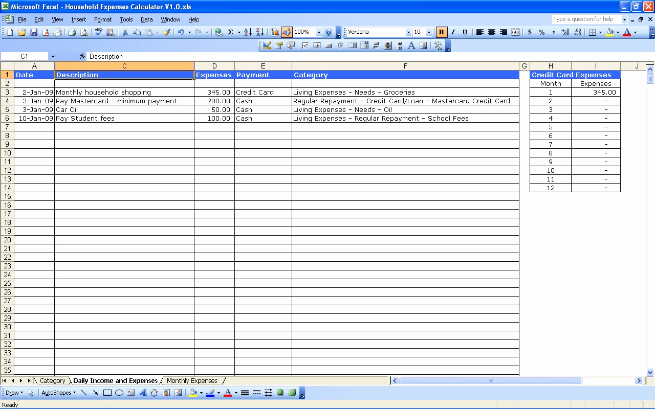Business Finance Spreadsheet Within 18 Business Expense