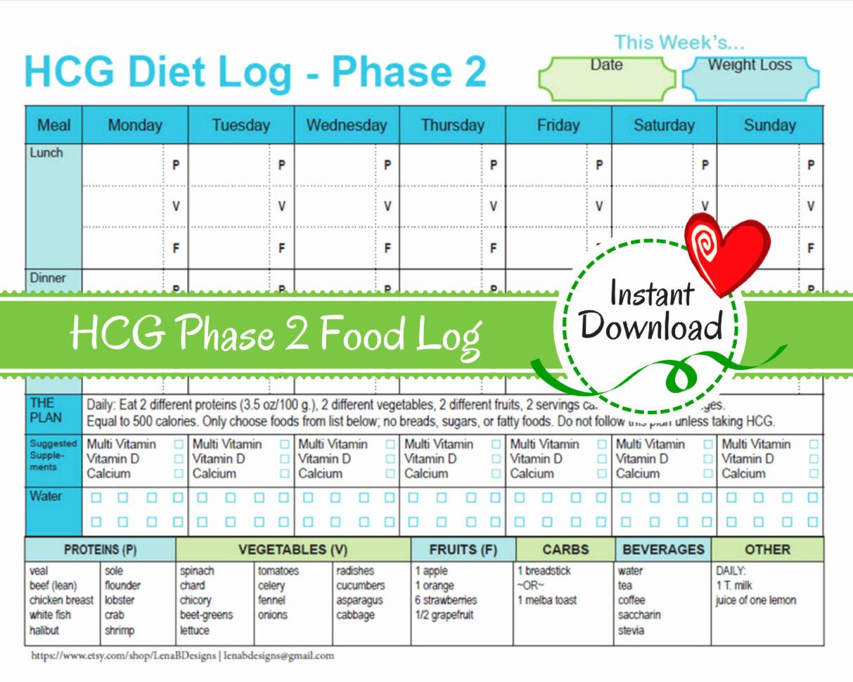 Calorie Spreadsheet Template In 50 Inspirational Hcg