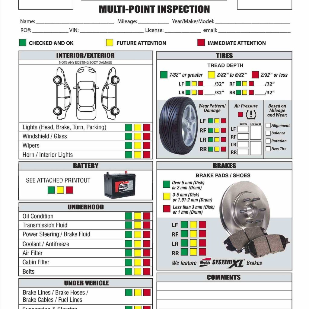 Car Maintenance Checklist Spreadsheet Throughout Vehicle