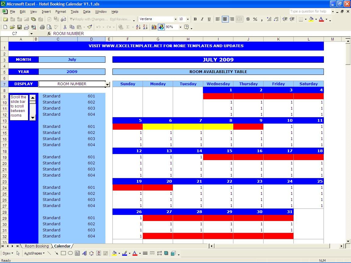Car Rental Reservation Spreadsheet