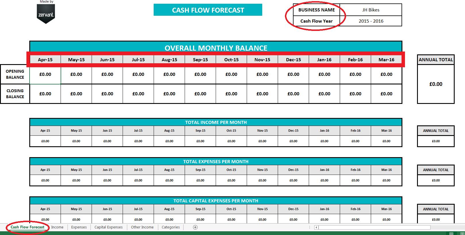 Cash Flow Spreadsheet Template Free Spreadsheet Downloa