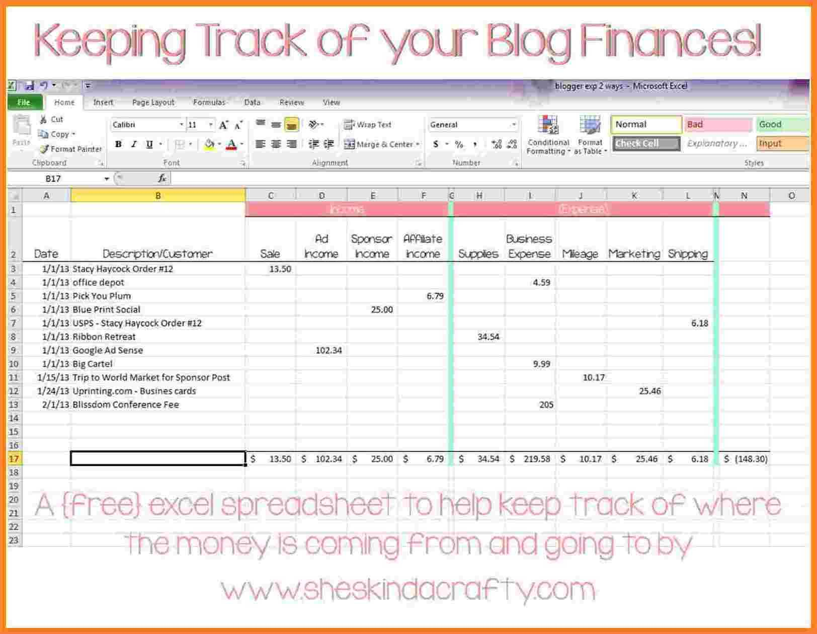 Cattle Expense Spreadsheet With Cattle Inventory