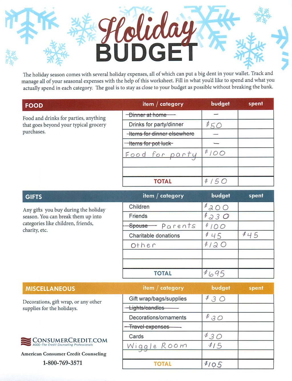 Christmas Present Spreadsheet In Christmas Budget