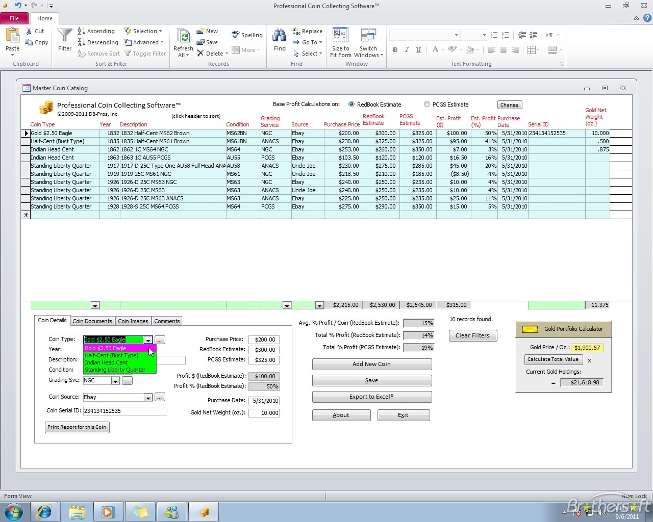 Coin Collecting Spreadsheet Download Spreadshee