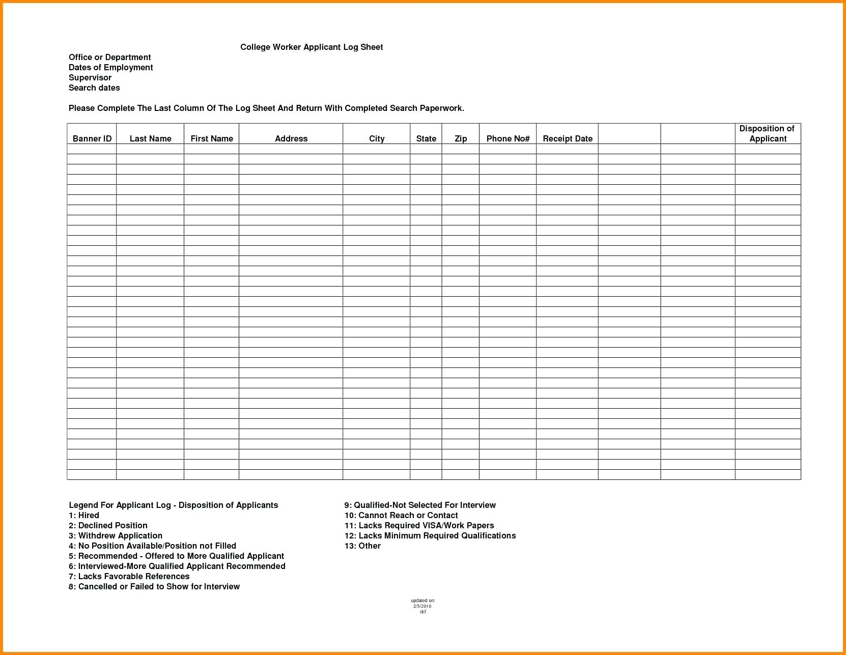 College Search Spreadsheet Template Printable Spreadshee