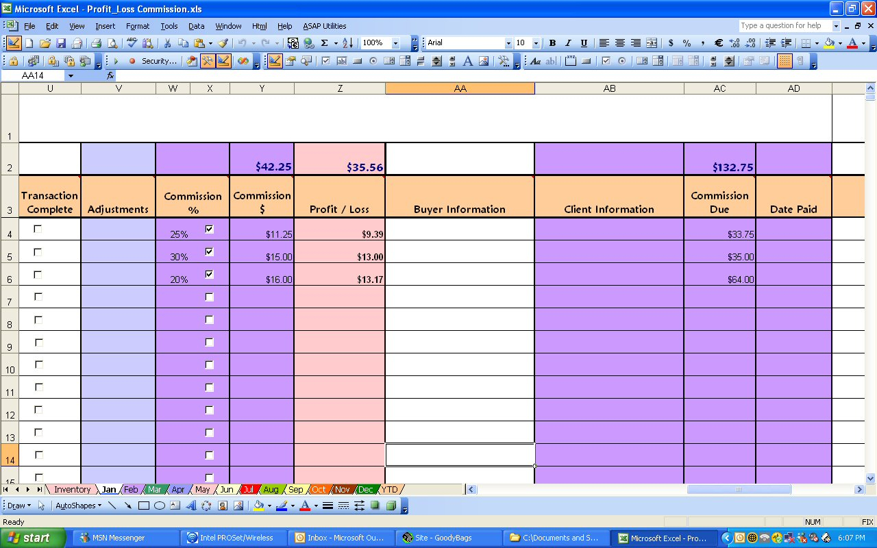 Commission Spreadsheet Template Excel Spreadsheet Downloa