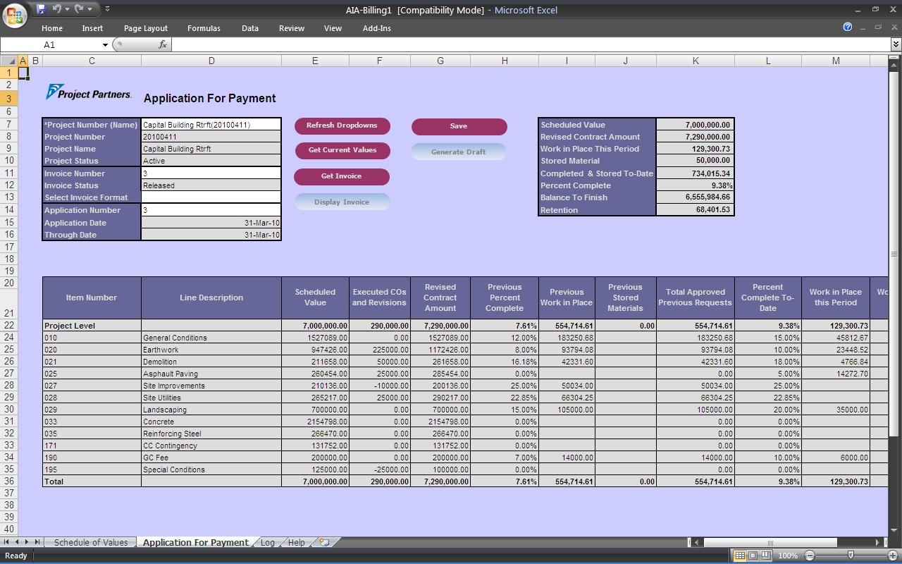 Construction Quantity Tracking Spreadsheet Spreadsheet