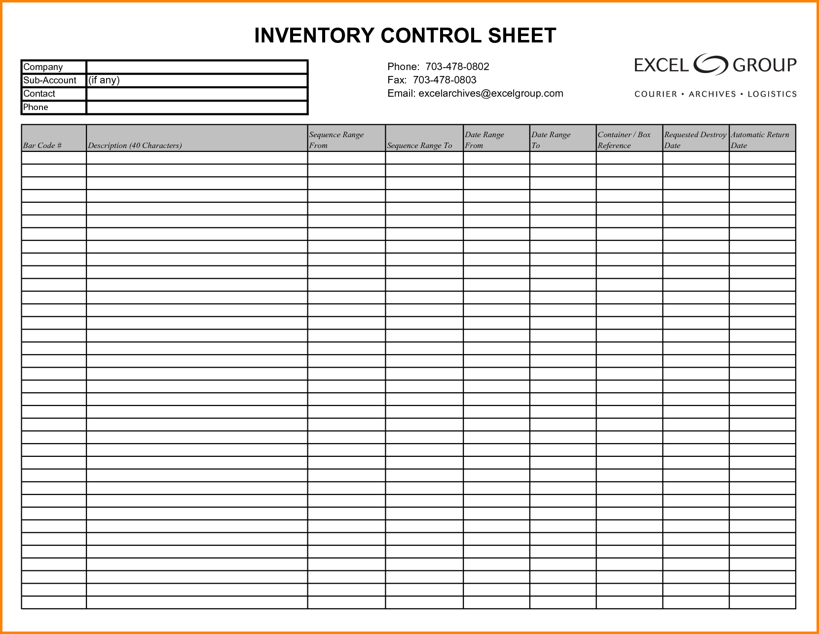 Convenience Store Inventory Spreadsheet Throughout Form