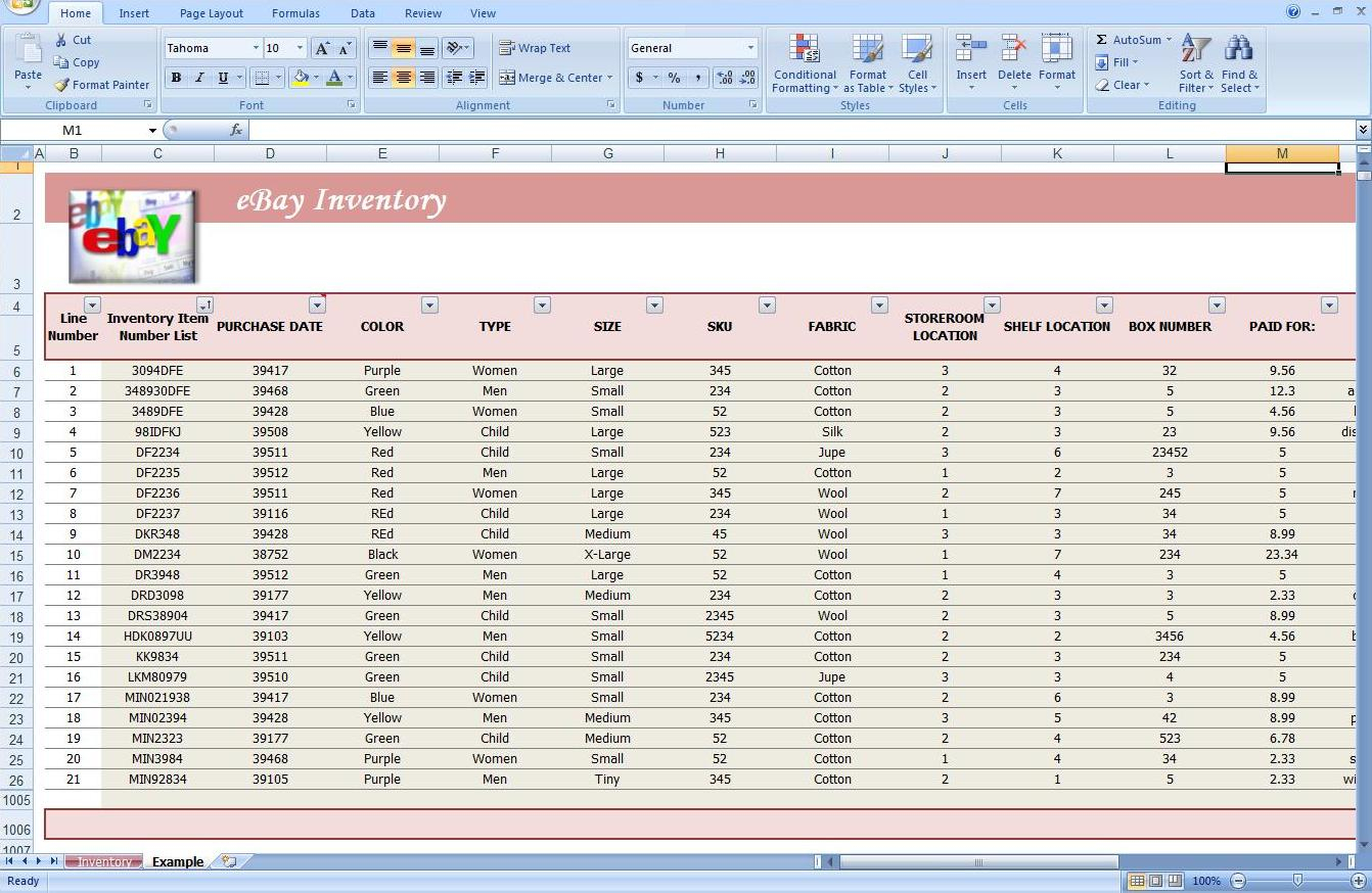 Convenience Store Inventory Spreadsheet Spreadshee