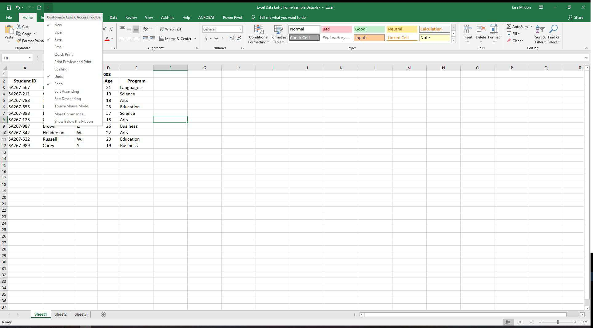 Create A Form From Excel Spreadsheet For Excel Data Entry