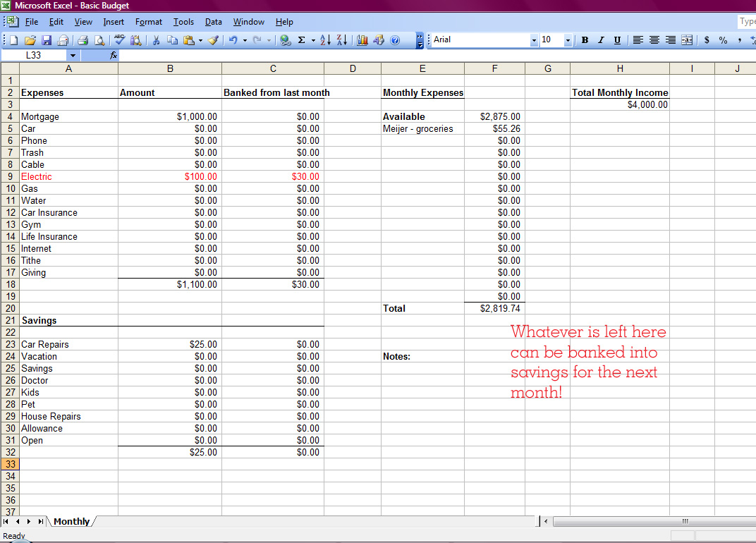 Create A Spreadsheet For Bills Intended For How To Set Up