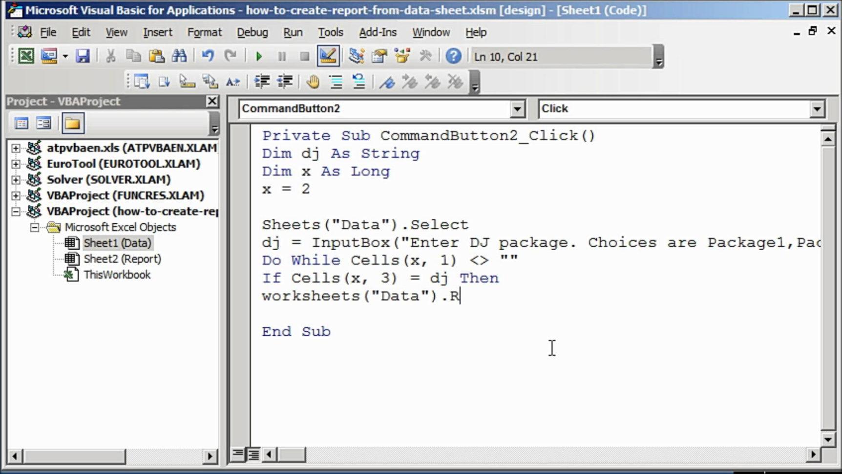 Create Report From Excel Spreadsheet Spreadsheet