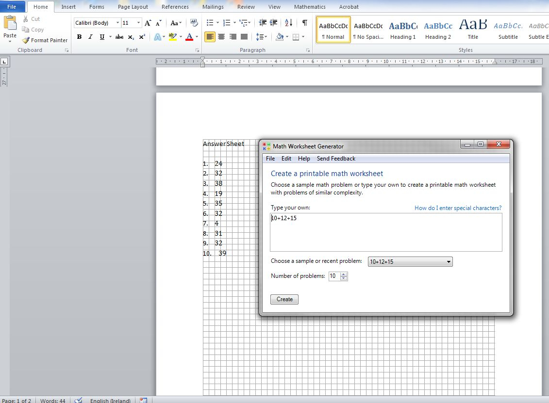 Creating A Spreadsheet In Word With Worksheet Microsoft